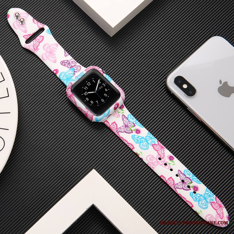 Apple Watch Series 1 All Inclusive Suojaus Jauhe Kuori Luova Silikoni Painatus