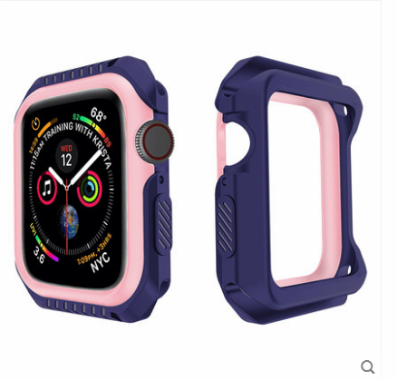 Apple Watch Series 1 Suojaus Murtumaton Kuori Sininen Silikoni Kehys