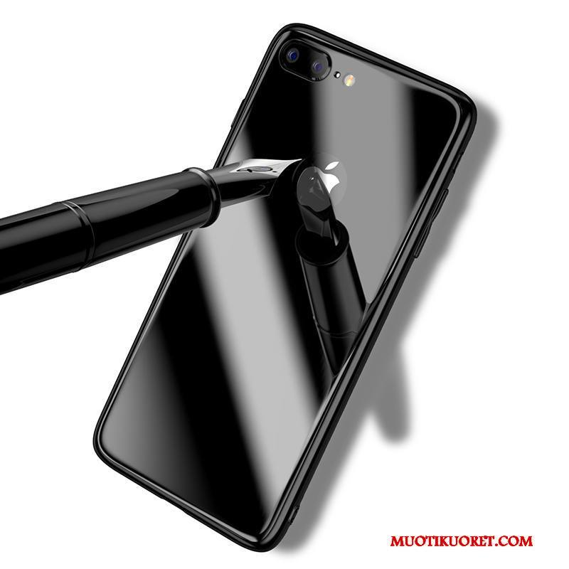 iPhone 8 Kuori Lasi Kotelo Musta Karkaisu Murtumaton All Inclusive